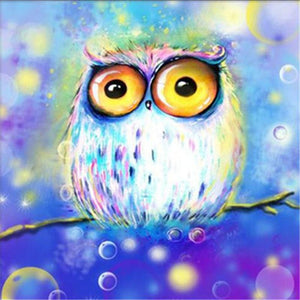 Watercolor Owl Diamond Painting Kit