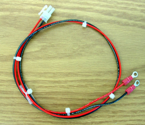"DC IN POWER CABLE WITH RING TONGUE TERMINALS , 24"" 19-00020-24"