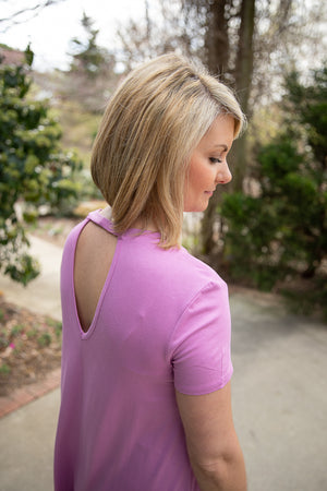 Open Back Dress Violet