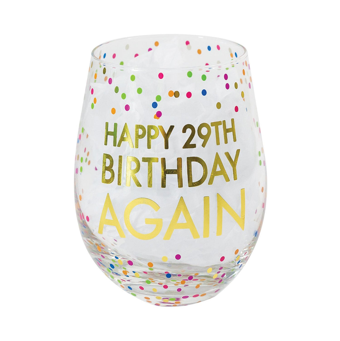 Glass Stemless Wine 29th Birthday