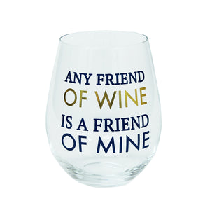 Glass Stemless Wine | Friend of Wine