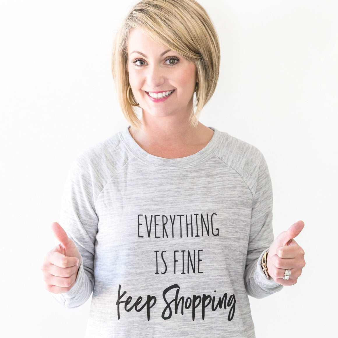 Sweatshirt | Keep Shopping | Heather Gray