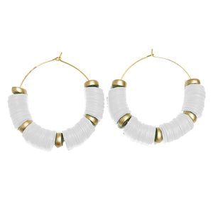 Earrings Victoria Falls White
