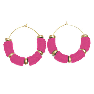 Earrings Victoria Falls Hot Pink