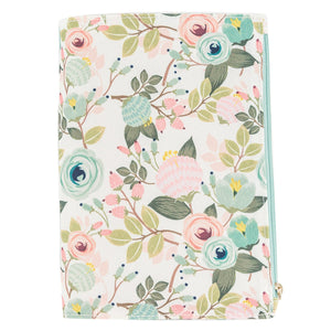 Canvas Pocket Journal Peach Floral