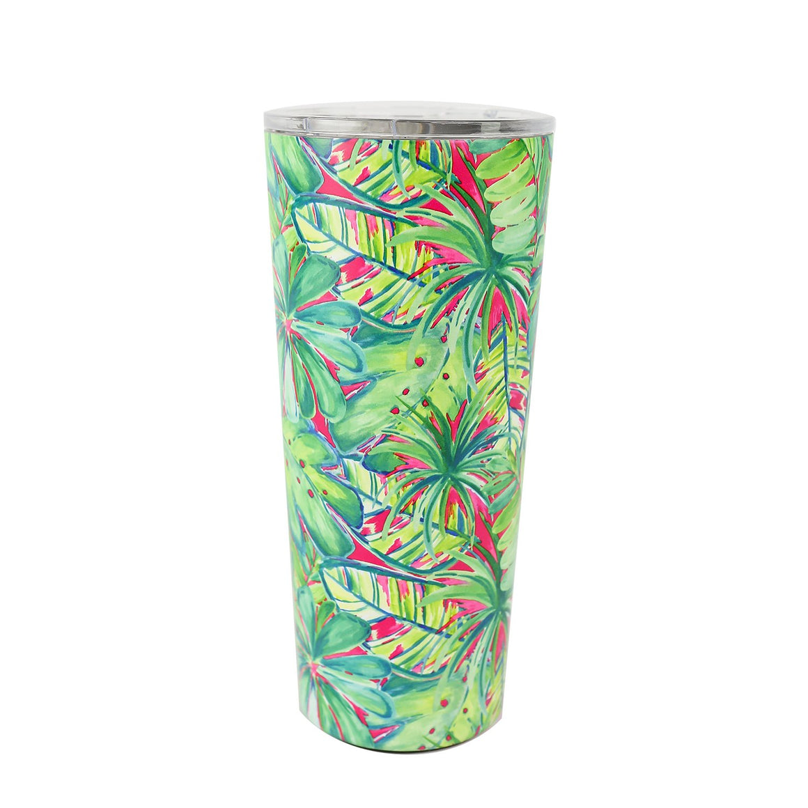 Resort Collection | Stainless Large Tumbler | Green Palm