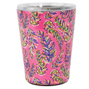 Resort Collection | Stainless Coffee Tumbler | Pink Frond