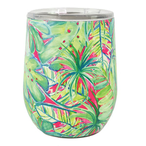 Resort Collection | Stainless Drink Tumbler | Green Palm