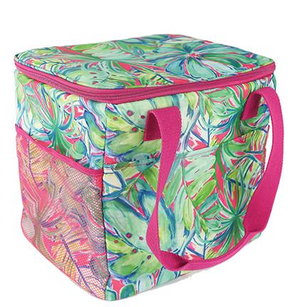 Resort Collection Cooler Tote Green Palm