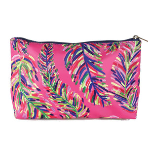 Travel Pouch | Pink Frond Carryall