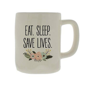Ceramic Mug Organic Save Lives