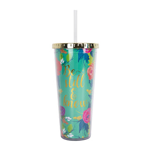 Straw Tumbler | Be Still and Know