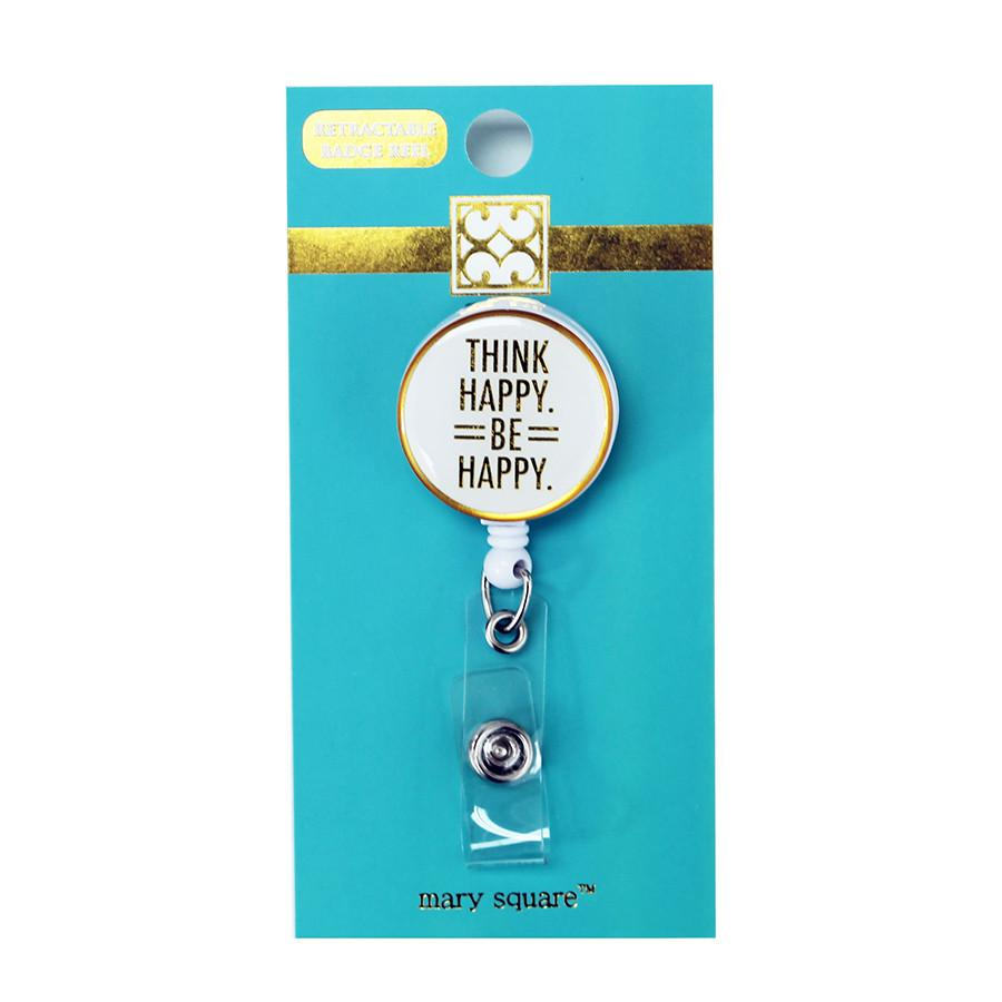 Badge Reel- Think Happy