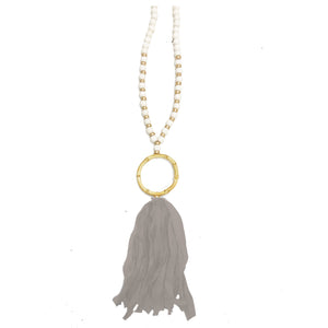 Necklace Brisbane Light Gray