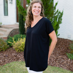 Maternity | Extended V-Neck Tunic | Black