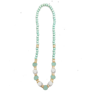 Necklace Ivory Coast Aqua/Aqua