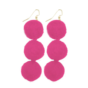 Earrings Manhattan Hot Pink