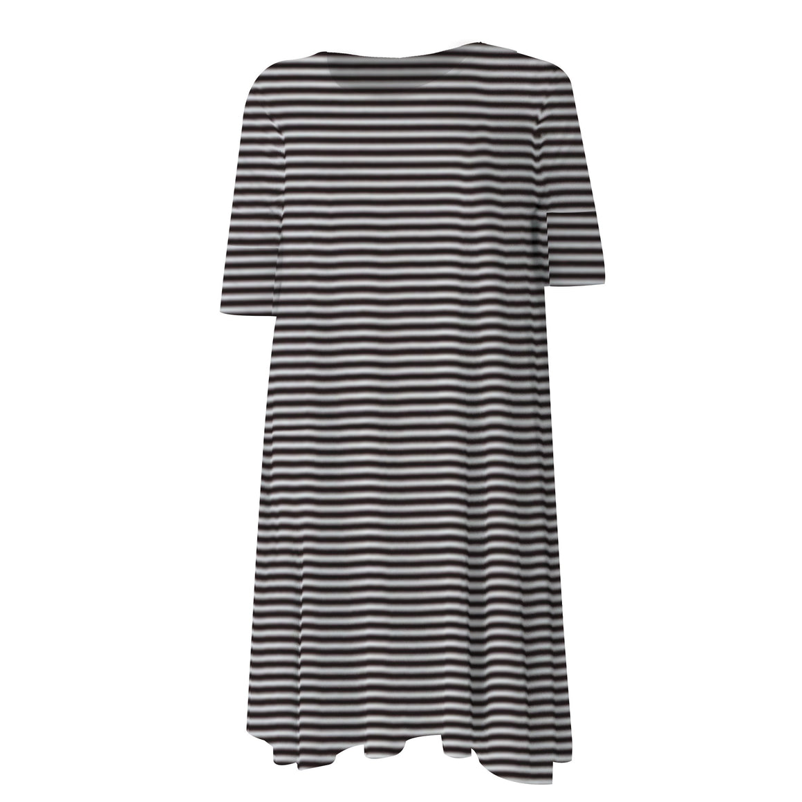 Swing Dress Black & White Stripe