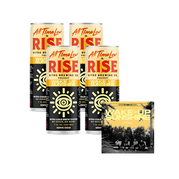 4 Pack RISE Nitro Cold Brew Coffee + Digital Album