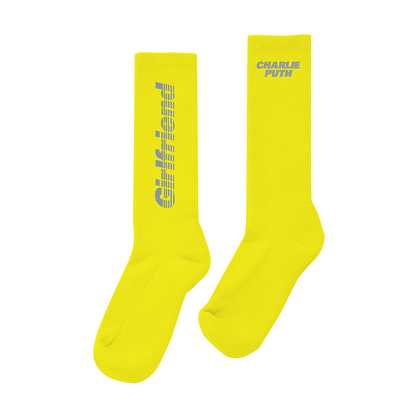 Girlfriend Text Sock (Yellow)