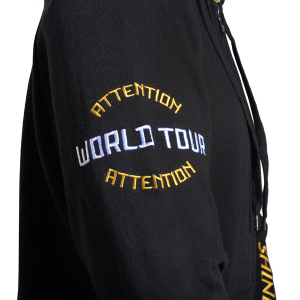 Attention Attention Custom Basic Hoodie Black