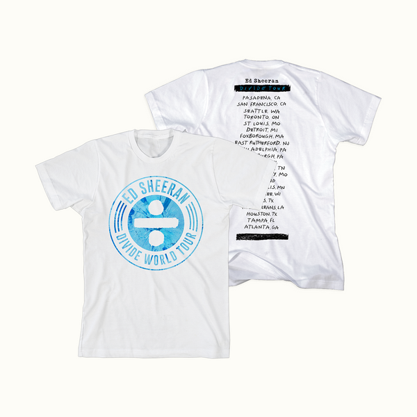 Spin Stamp Tour T-Shirt (White)