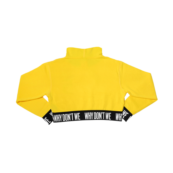 Crop Top Hoodie (Yellow).