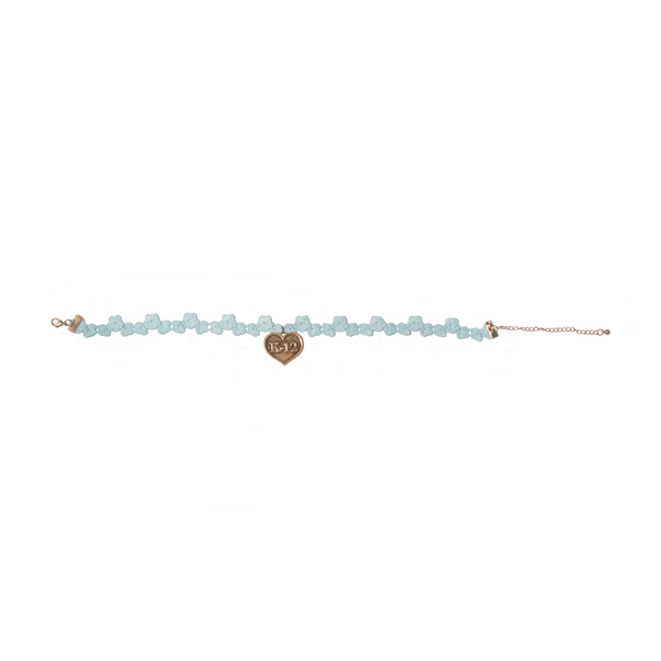 K12 Blue Flower Choker