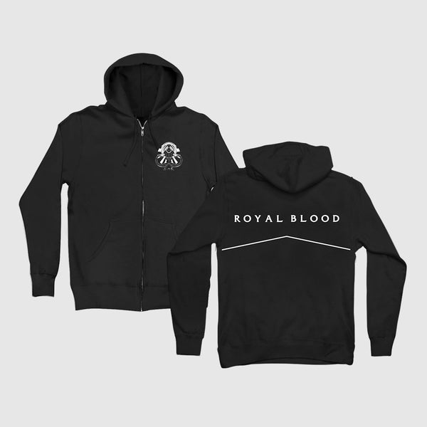 Black Mammoth Zip-Up Hoodie