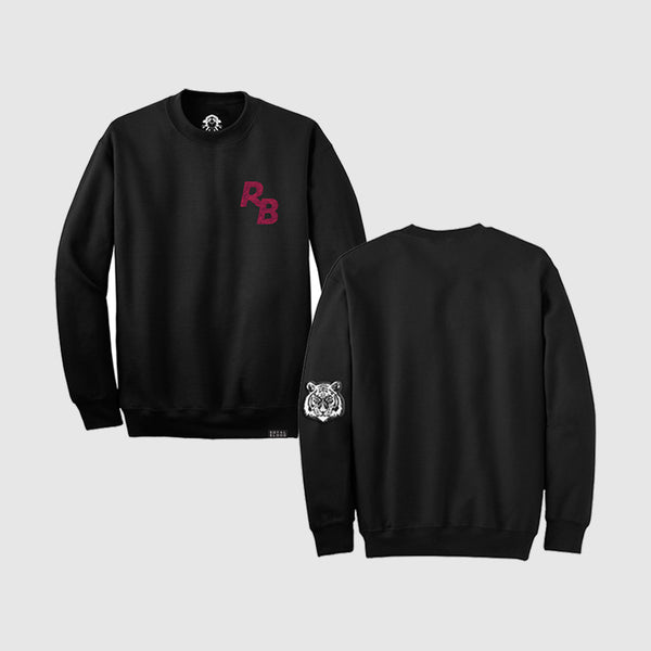 Tiger Sleeve Black Crewneck