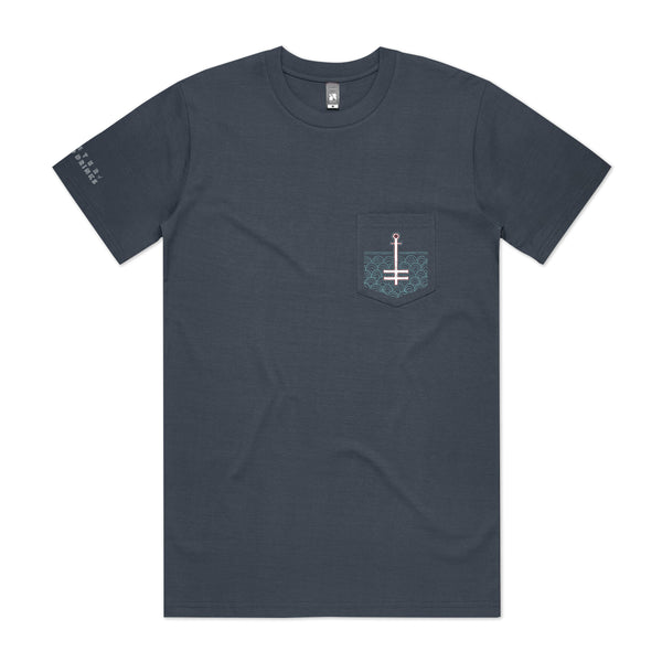 Winter Of Mixed Drinks Anniversary Pocket T-Shirt Blue