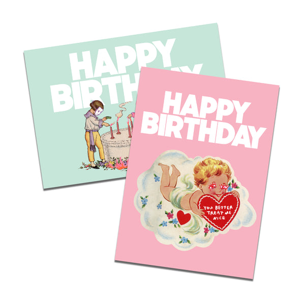 Birthday Card Set of 4