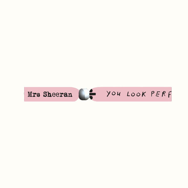 Mrs Sheeran Fabric Wristband