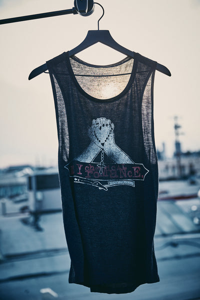Praying Hands Distressed Women's Tank Top