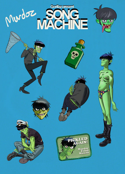Song Machine Murdoc Sticker Pack
