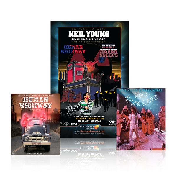 Neil Young - Exclusive Blu Ray Bundle + Movie Poster