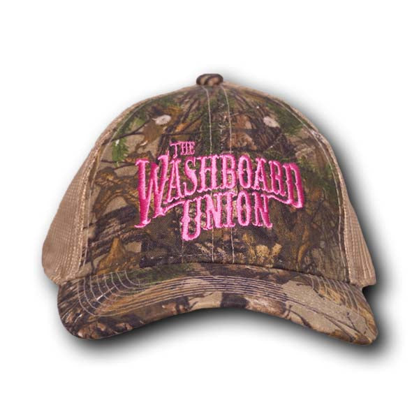 Pink Logo Forest Camo Hat