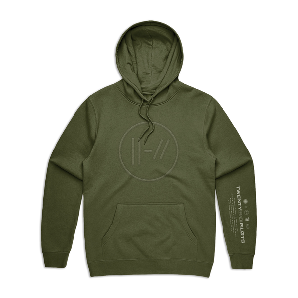 Army Green Hoodie (Embroidered)
