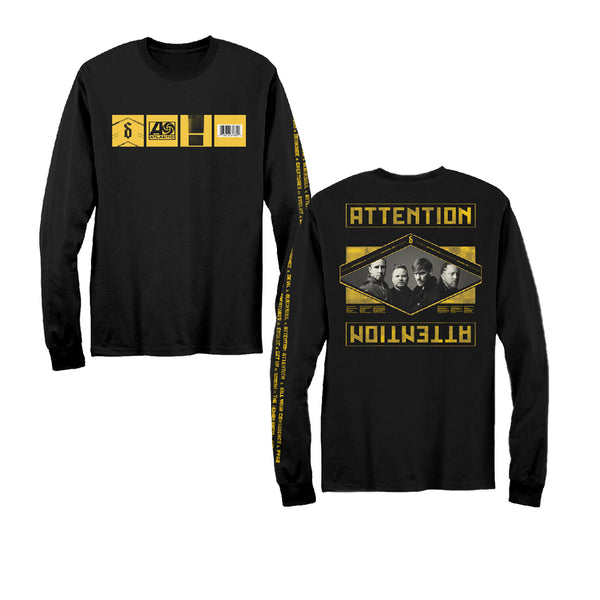 Album Statement Slim Fit Long Sleeve T-Shirt Black