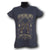 Shot Of Glory Women Charcoal Grey T-shirt