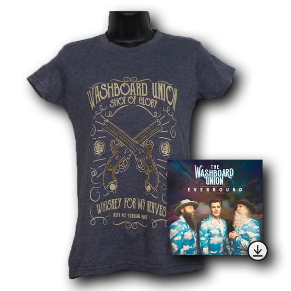 Shot Of Glory Women Charcoal Grey T-shirt + Digital Album Bundle