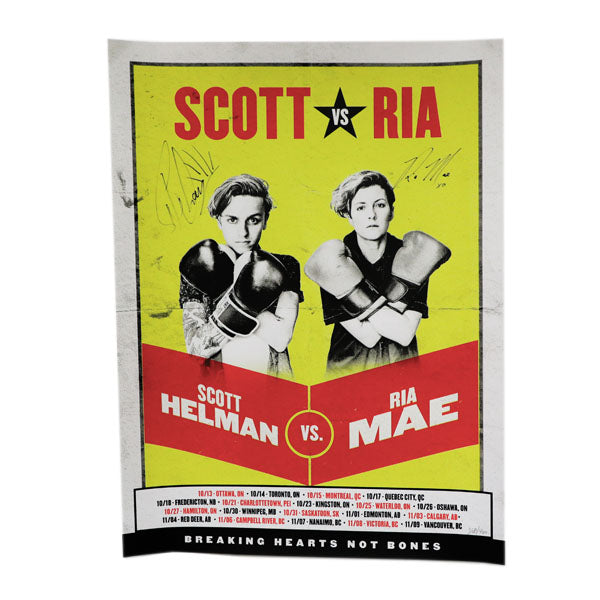 Autographed Scott Vs Ria Tour Poster