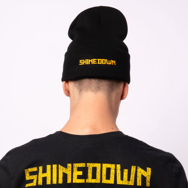 Exclamation Flip Beanie Black