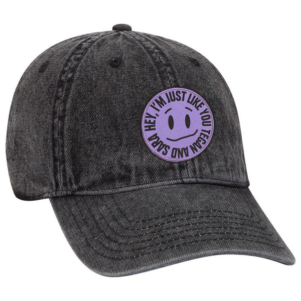 [PRE-ORDER] Hey, I'm Just Like You Kinda Smiley Denim Cap