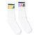 Rainbow Name Crew Socks