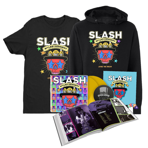 Living The Dream 2LP Deluxe Hardcover Book + Hoodie + T-Shirt...