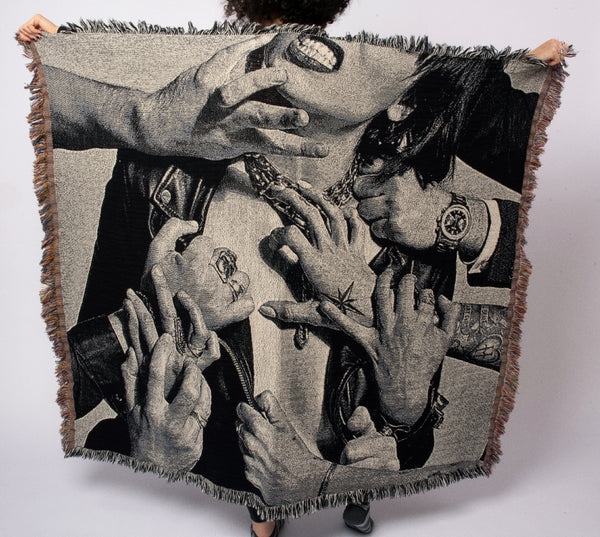 Vicious Album Cover Woven Blanket