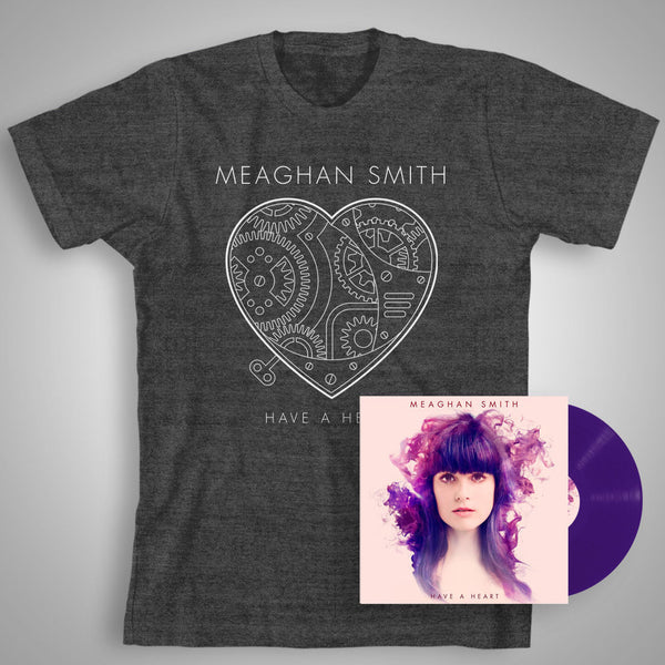 Have A Heart (Special Edition Purple Vinyl with Bonus CD) + Heather Charcoal T-Shirt