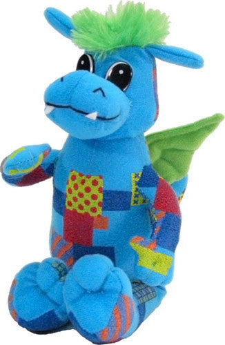 Crazy Quilt Dragon Plush Toy