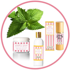 natural skincare products made with peppermint oil